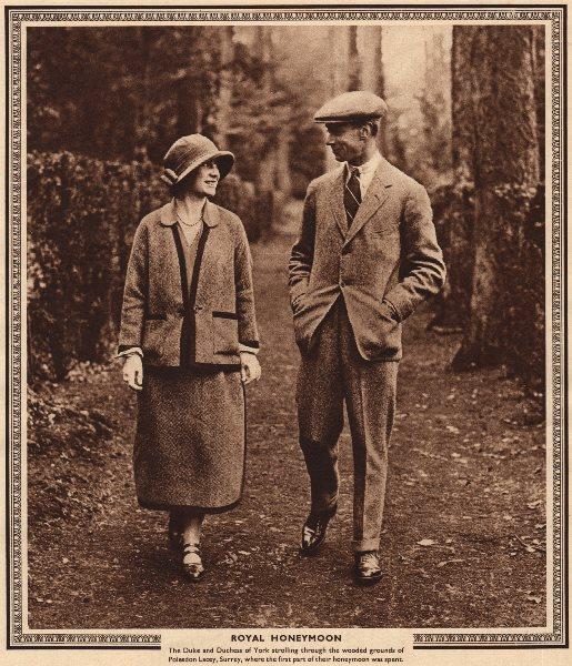 Associate Product KING GEORGE VI. Royal Honeymoon. Duke & Duchess Of York 1937 old vintage print