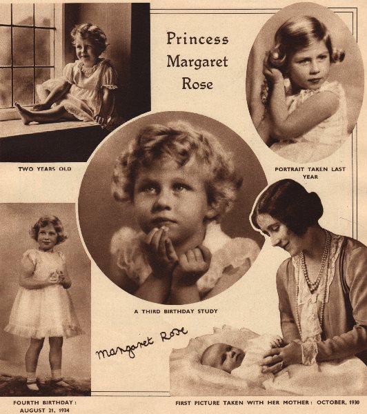 Associate Product PRINCESS MARGARET. Princess Margaret Rose as a child 1937 old vintage print