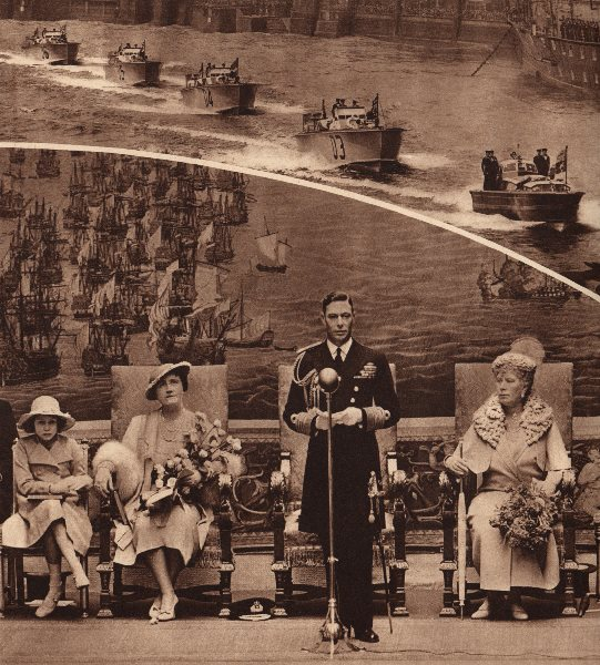 Associate Product KING GEORGE VI. Down the Thames to Greenwich. Queen Elizabeth. Mary of Teck 1937