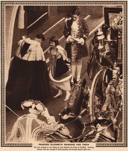 Associate Product CORONATION 1937.Princess Elizabeth manages train(later Queen Elizabeth II) 1937