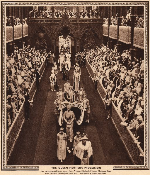 Associate Product CORONATION 1937. The Queen Mother's parade. Mary of Teck. Westminster Abbey 1937
