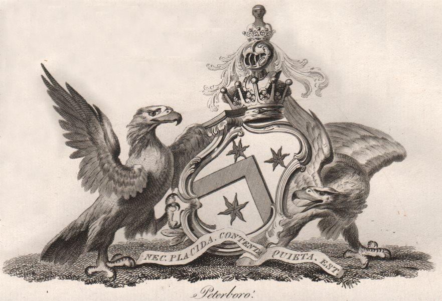 Associate Product PETERBORO. Coat of Arms. Heraldry 1790 old antique vintage print picture
