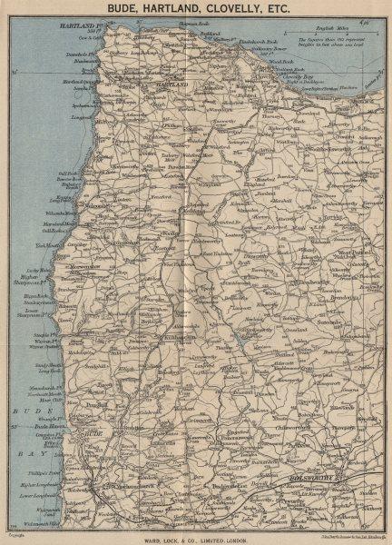 SOUTH WEST ENGLAND. Bude Hartland Clovelly. Devon/Cornwall. WARD LOCK c1955 map