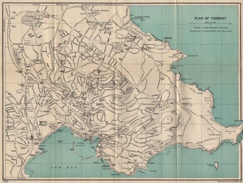 Associate Product TORQUAY vintage town/city plan. Devon. WARD LOCK c1955 old vintage map chart