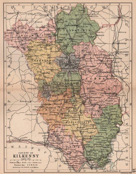 Associate Product COUNTY KILKENNY. Antique county map. Leinster. Ireland. BARTHOLOMEW 1882