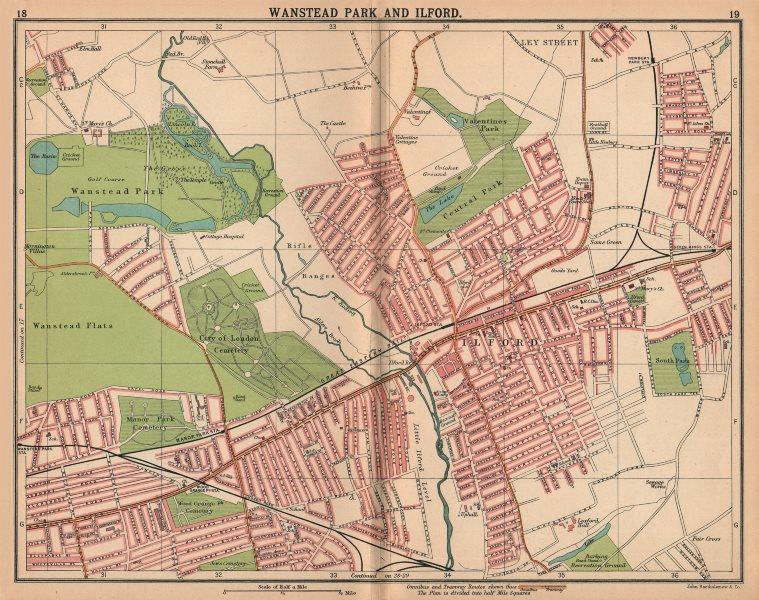 Associate Product LONDON NE. Wanstead Flats Wanstead Park Ilford. Bus & tram routes 1913 old map