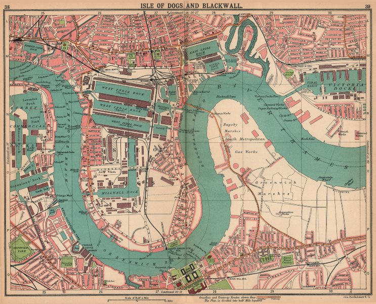 Associate Product LONDON E. Isle of Dogs Blackwall Greenwich Poplar Surrey Docks 1913 old map