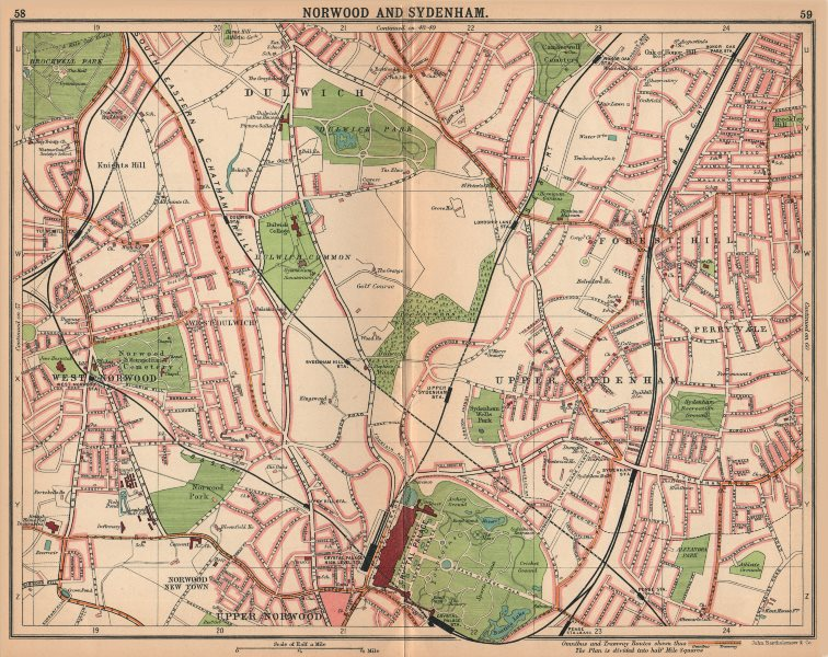 Associate Product LONDON S.Norwood Sydenham Dulwich Forest Hill W Dulwich.Bus tram routes 1913 map