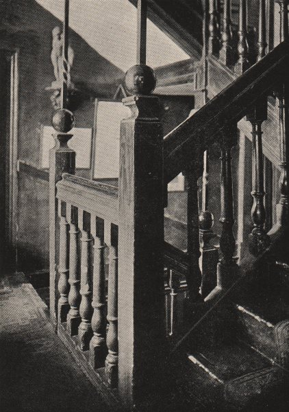Associate Product FULHAM BROADWAY. Staircase, Sandford Manor House, Waterford Road. SMALL 1900