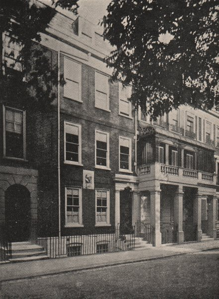 Associate Product CHELSEA. Carlyle's House, 24 Cheyne Row. SMALL 1900 old antique print picture