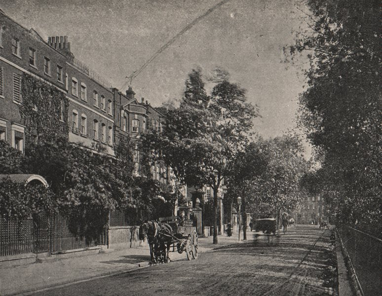 Associate Product CHELSEA. Cheyne Walk, looking east from the bottom of Oakley Street. SMALL 1900