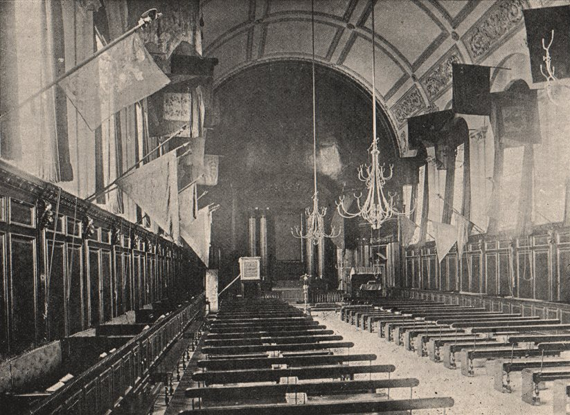 Associate Product CHELSEA. Royal Hospital. The Chapel. SMALL 1900 old antique print picture