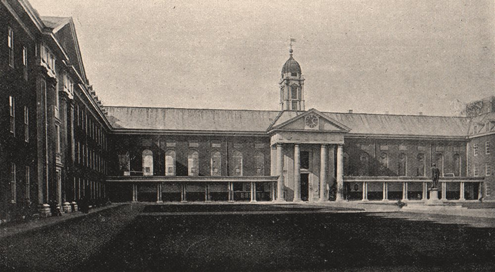 Associate Product CHELSEA. Royal Hospital. The Quadrangle. SMALL 1900 old antique print picture
