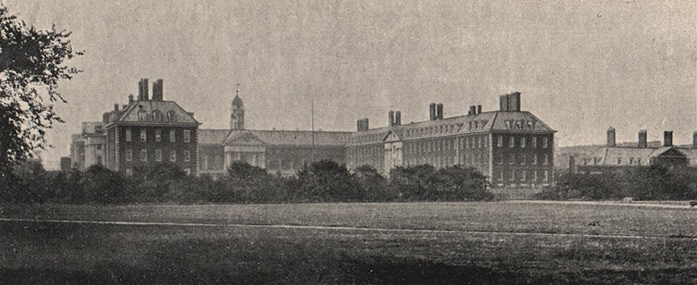 Associate Product CHELSEA. Royal Hospital, from the South West. SMALL 1900 old antique print