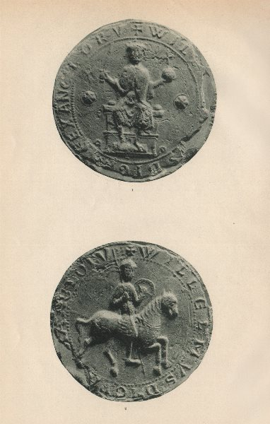 Associate Product ENGLISH SEALS. King William II. William Rufus. 1087-1100 1907 old print