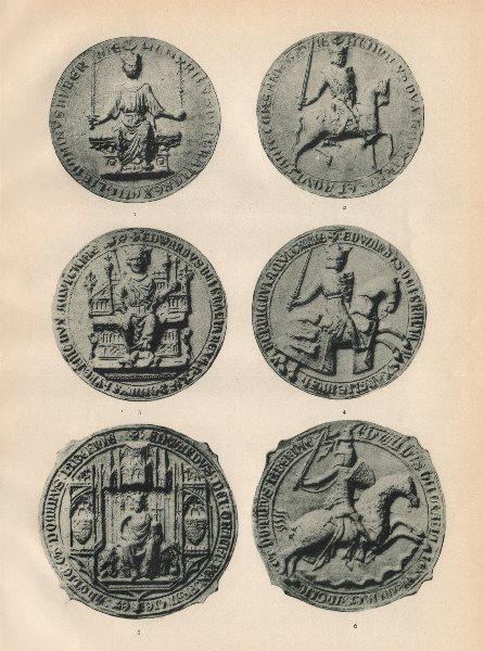 Associate Product SEALS OF ENGLISH KINGS. Henry III 1243. Edward I 1276. Edward III 1340-1372 1907