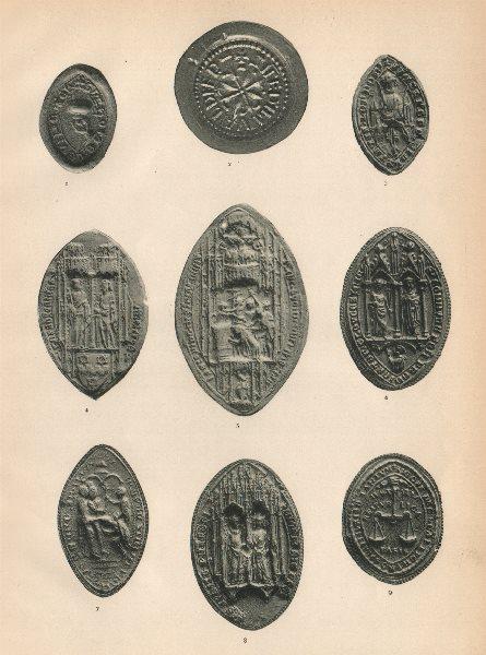 Associate Product ECCLESIASTICAL SEALS. Vineter Eoilvvald Brentingham Islip Walter Montacute 1907