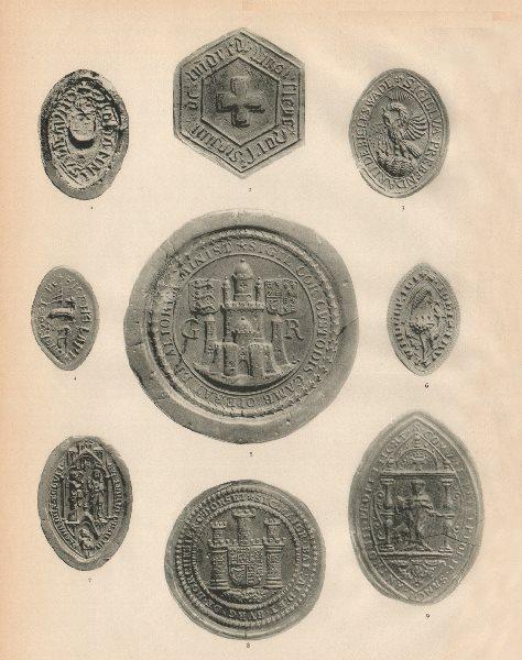 Associate Product SEALS. Alexander. west Flegg. Biggleswade. Stone. Exeter. Dorchester. Leith 1907