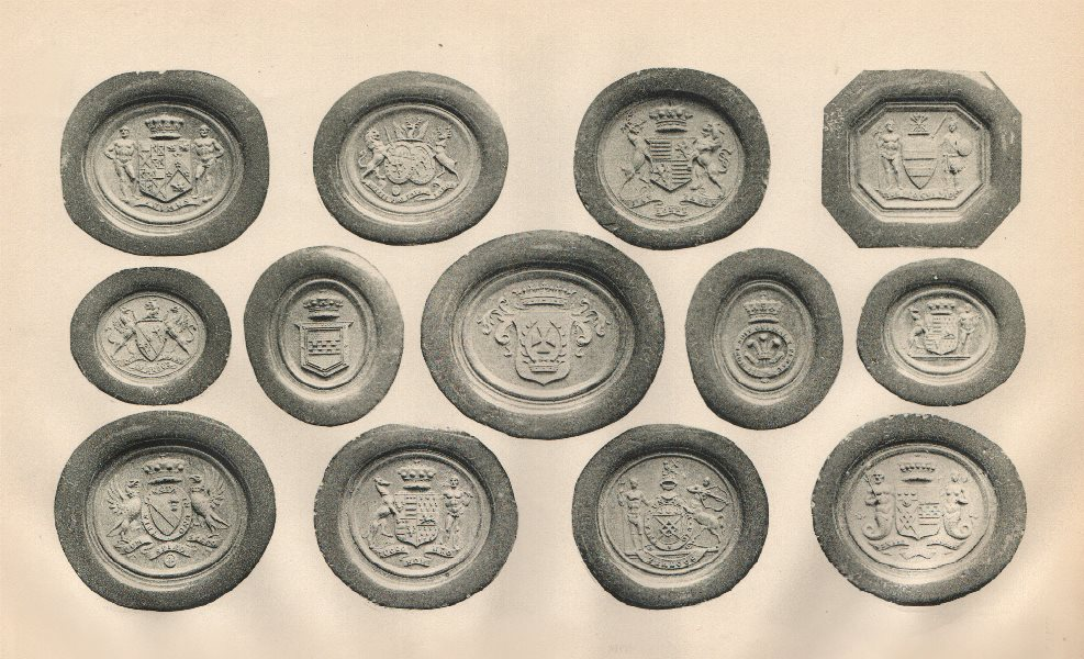 Associate Product ENGLISH HERALDIC SEALS. Seals of Noble and Prominent Persons 1907 old print
