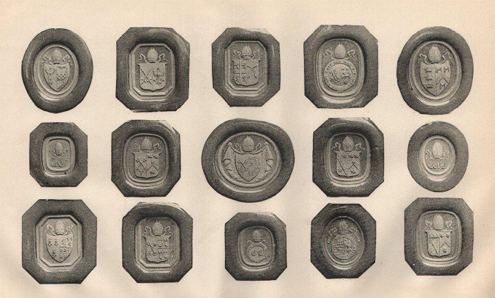 Associate Product ENGLISH HERALDIC SEALS. Specimen seals of Ecclesiastical Dignitaries 1907