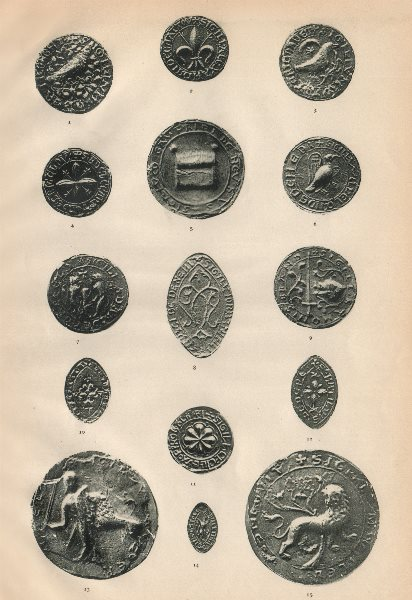 Associate Product 13-14C SEALS. Chattou Denebi Cokefeld Brand Colevile Basingstoke Chesneduit 1907