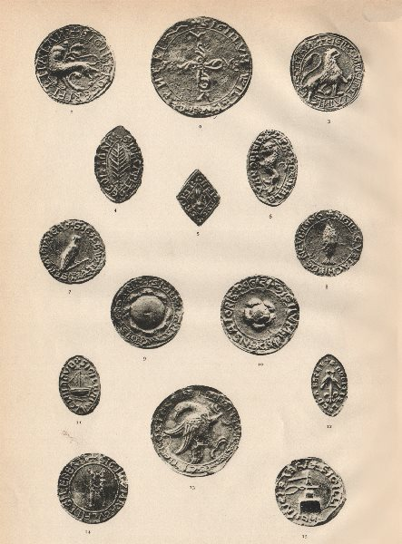 Associate Product 13C ENGLISH SEALS. Fitz-Alan Gilbert Berners Golton Franc Firt Bruce Carter 1907