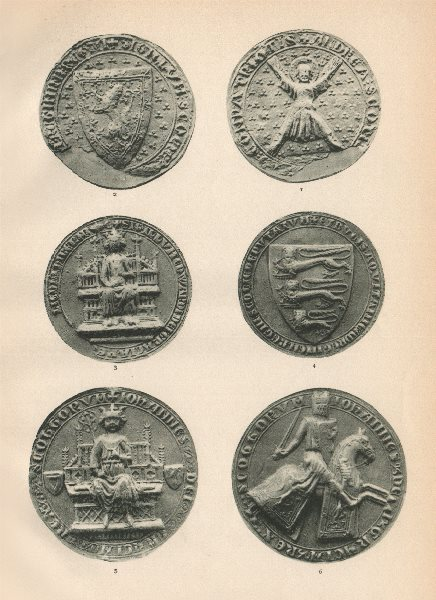 Associate Product ROYAL SCOTTISH SEALS 1286-1306. King Edward I. St. Andrew. John Balliol 1907