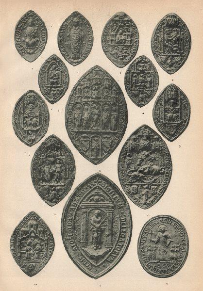 Associate Product ITALIAN ECCLESIASTICAL SEALS. Albano Vicenza Siracusa Ferrara Bologna 1907