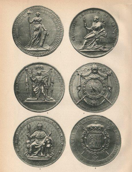 Associate Product FRENCH SEALS REPUBLIC & EMPIRE 1792-1824. Napoléon. Louis XVIII 1907 old print