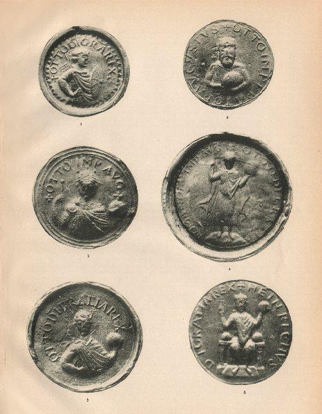 Associate Product GERMAN SOVEREIGNS SEALS 936-1024. King Otto Great I II III Emperor Heinrich 1907