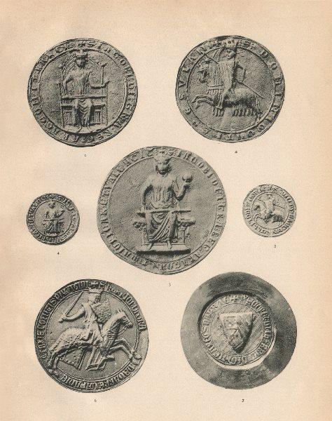 Associate Product SEALS OF SPANISH KINGS. James I of Aragon 1226 Bulla. Henry of Navarre 1271 1907