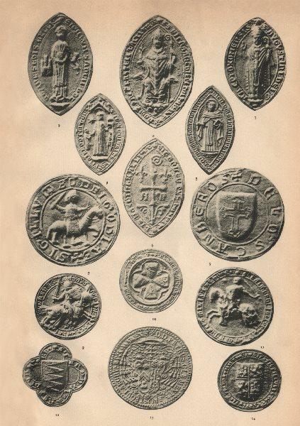 Associate Product SPANISH SEALS. Toledo Oxoma Juannes Mast'ceta Canberos Artois Fulco Ivanes 1907