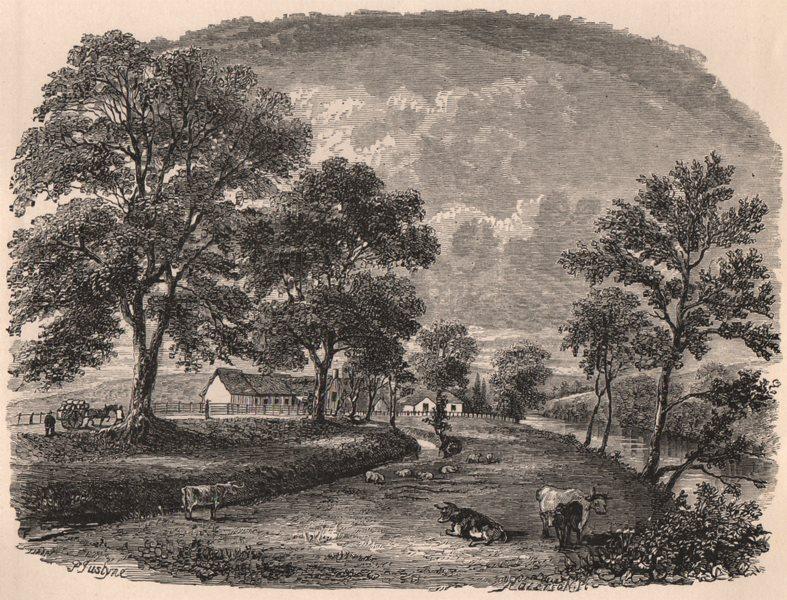 Associate Product AYRSHIRE. Alloway Mill (Robert Burns' first School) . Scotland 1885 old print