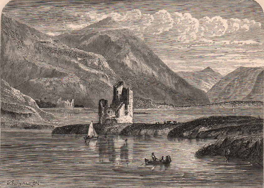 Associate Product SUTHERLANDSHIRE. Ardvraick Castle. Scotland 1885 old antique print picture