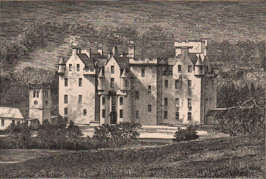 PERTHSHIRE. Blair Castle. Scotland 1885 old antique vintage print picture