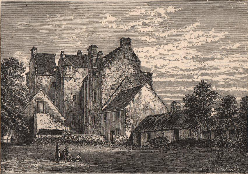 Associate Product NAIRNSHIRE. Dalcross Castle. Scotland 1885 old antique vintage print picture