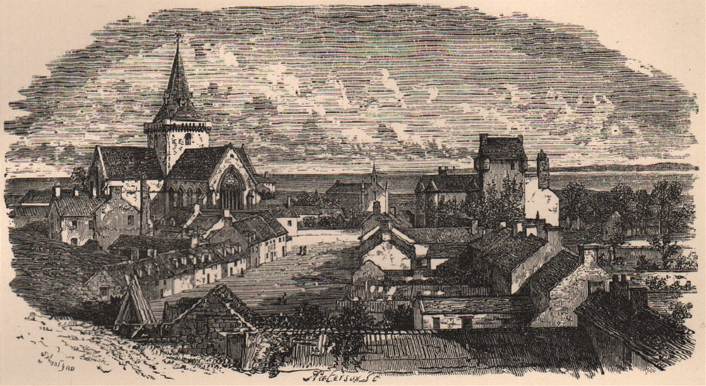 Associate Product SUTHERLANDSHIRE. Dornoch. Scotland 1885 old antique vintage print picture