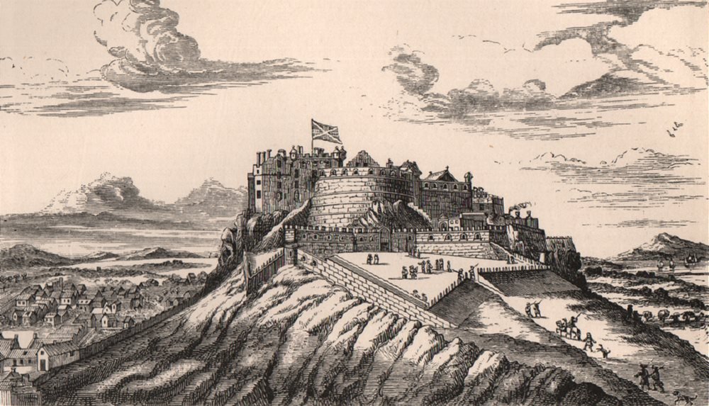 Associate Product EDINBURGH CASTLE. View in 1715, from the North-East. Scotland 1885 old print