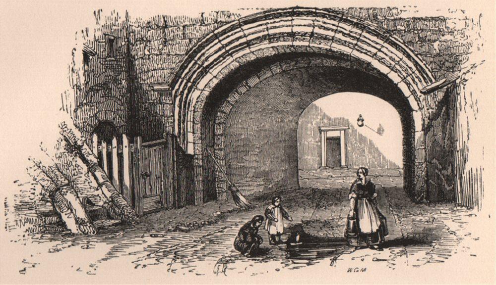 Associate Product LEITH. Citadel. Scotland 1885 old antique vintage print picture