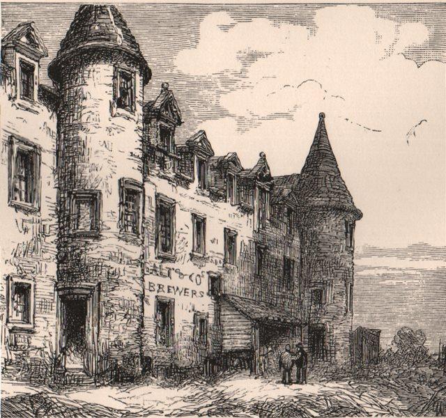 Associate Product GLASGOW. Part of the Quadrangle, Old College. Scotland 1885 antique print