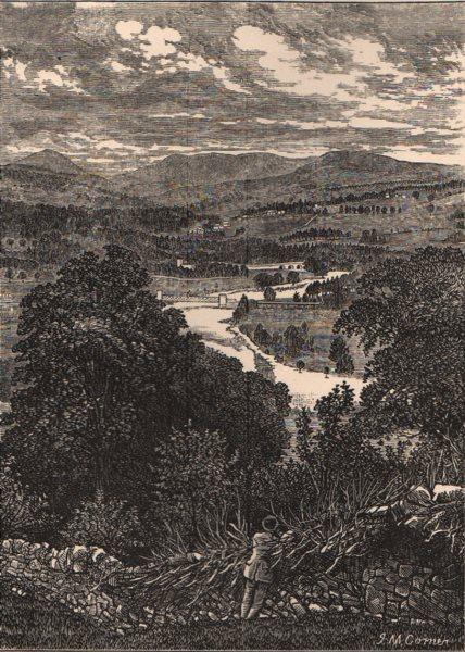 PERTHSHIRE. Glen Tilt. Scotland 1885 old antique vintage print picture