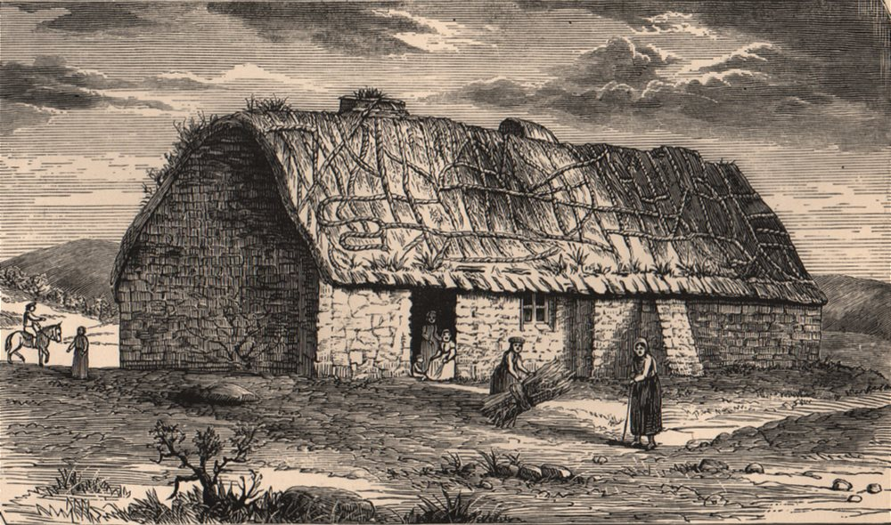 Associate Product ISLAY. A Cottage in Islay, 1774. Scotland 1885 old antique print picture
