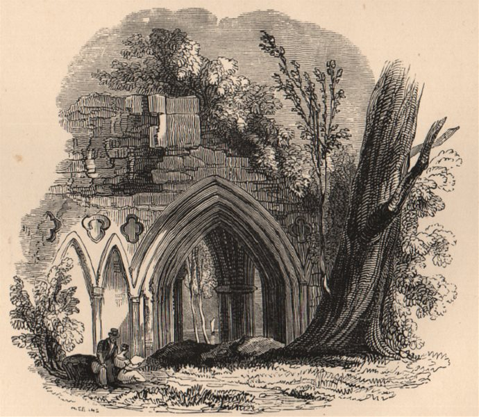 Associate Product PERTHSHIRE. Inchmahome Priory, Lake of Monteith. Scotland 1885 old print