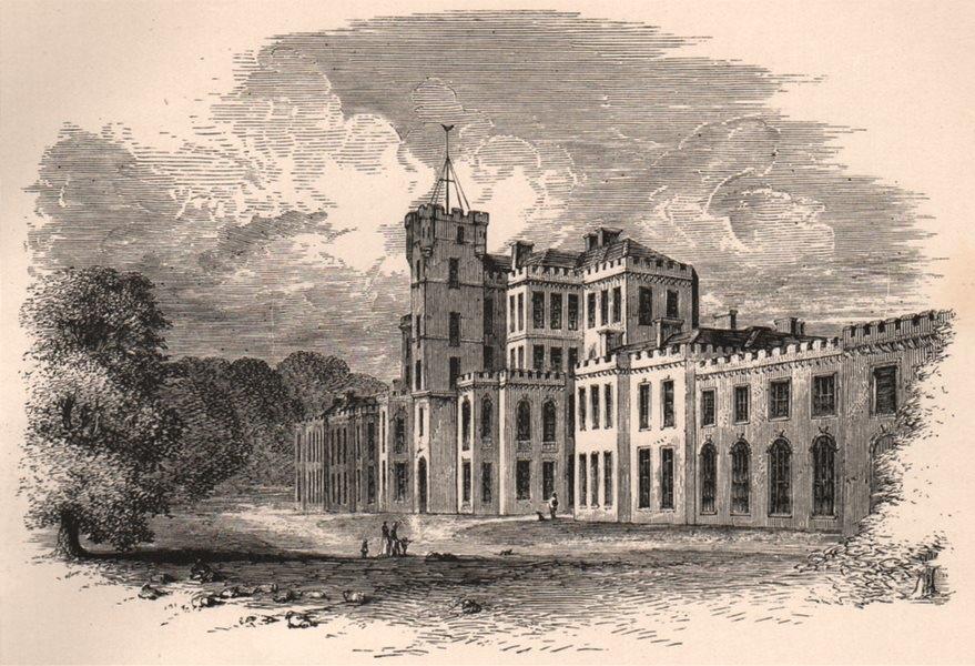 Associate Product MORAYSHIRE. Gordon Castle. Scotland 1885 old antique vintage print picture