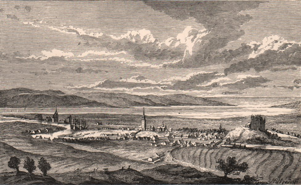 Associate Product INVERNESS. Town view at the end of the 17th century. Scotland 1885 old print