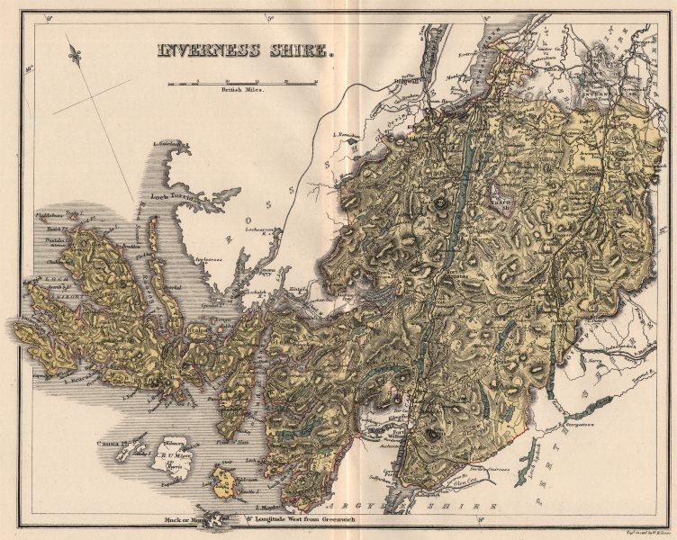 INVERNESS-SHIRE. Antique county map. Isle of Skye. Scotland. LIZARS 1885
