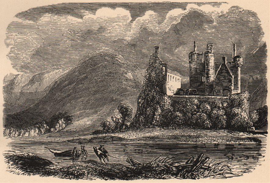 Associate Product ARGYLESHIRE. Kilchurn Castle. Scotland 1885 old antique vintage print picture