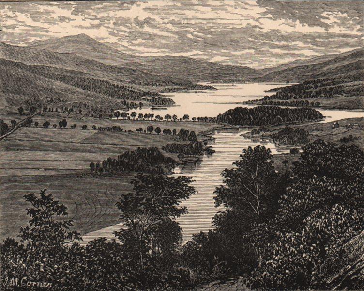 Associate Product SCOTLAND. Loch Tummel 1885 old antique vintage print picture
