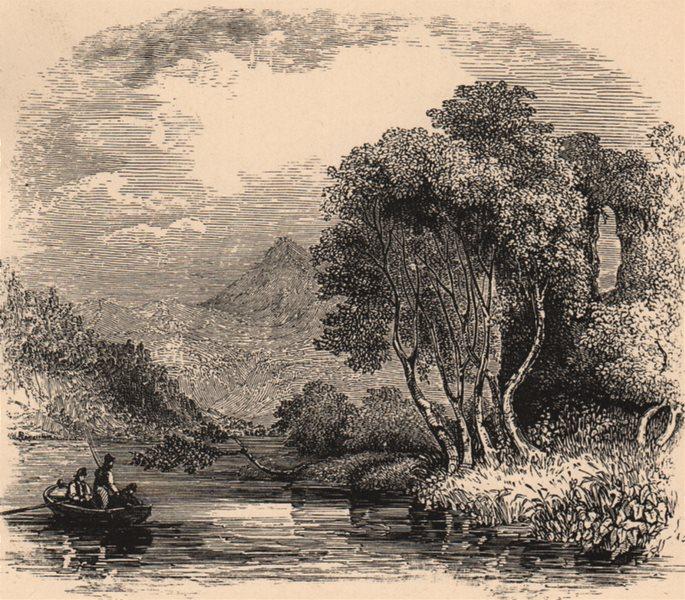SCOTLAND. Inch, Galbraith and Castle, Ben Lomond 1885 old antique print