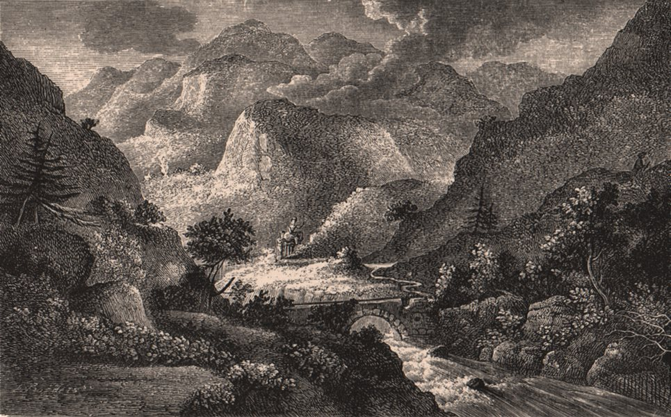 Associate Product PERTHSHIRE. Pass of Killiecrankie in the 18th century. Scotland 1885 old print